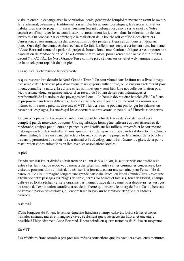 LA BOUCLE DU NORD GRANDE TERRE, GUADELOUPE, ECOTOURISME Slide 2