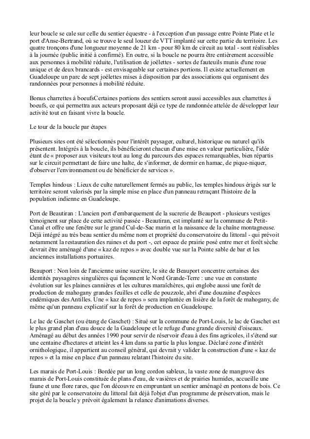 LA BOUCLE DU NORD GRANDE TERRE, GUADELOUPE, ECOTOURISME Slide 3