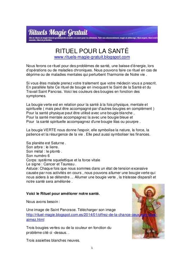 RITUEL POUR LA SANTÉ  www.rituels-magie-gratuit.blogspot.com  Nous ferons ce rituel pour des problèmes de santé, une baiss...