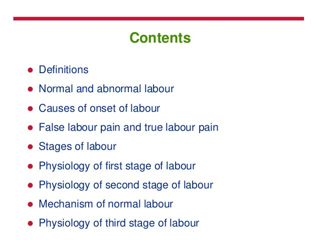 Labour and its stages