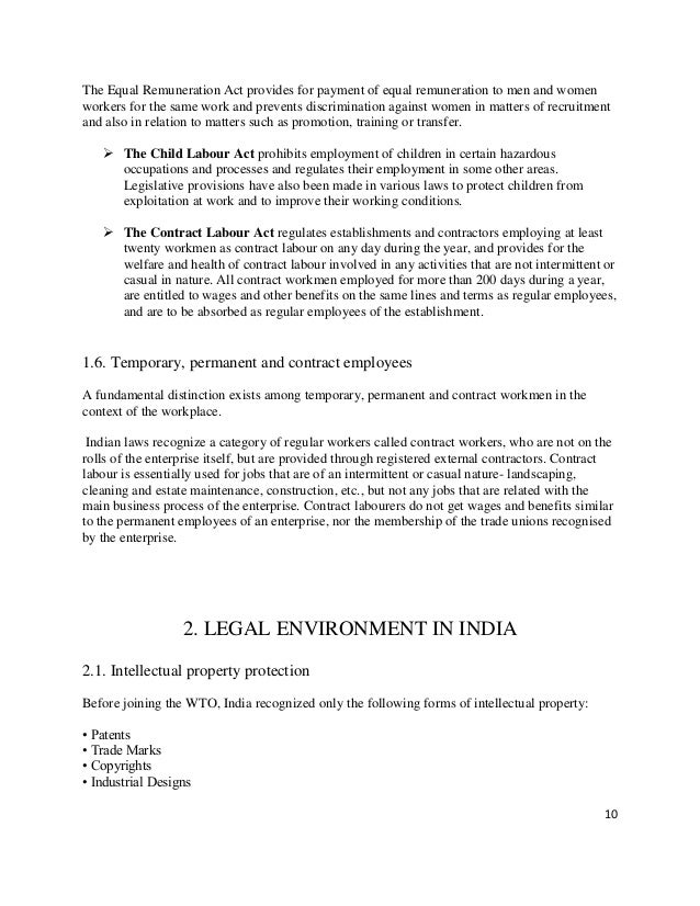 dimension of legal environment in india Recognize the enormous dimensions of the environmental problems facing india   under indian law, for instance, the remedies for a public nuisance are (i) a.