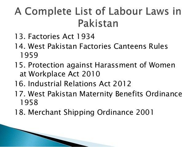 Employment & Labour Law | Pakistan