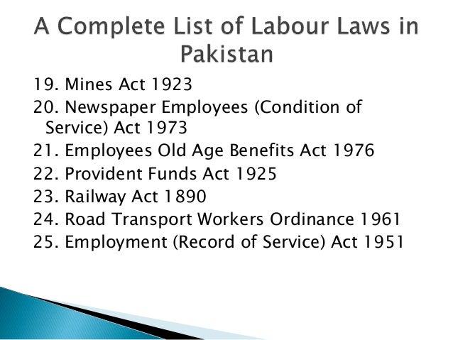 Labour Law Rules Pdf