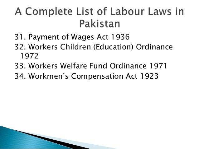 Labour Laws In Pakistan In Urdu Book