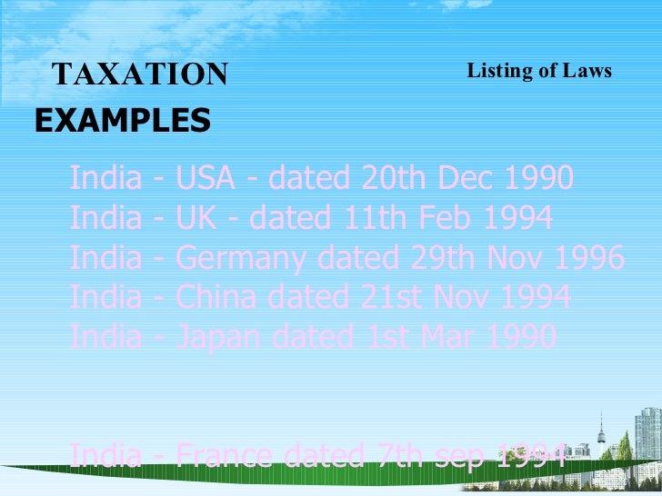 India: tax treaties