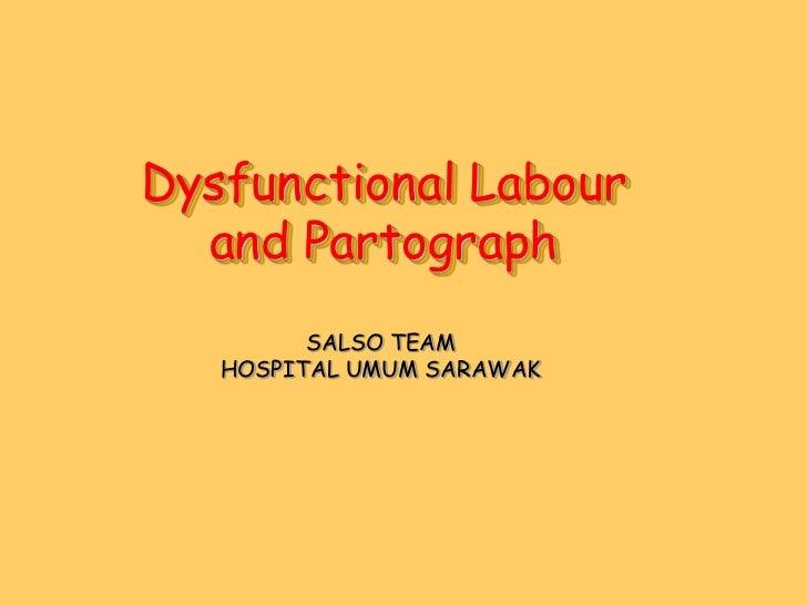 Dysfunctional Labour  and Partograph         SALSO TEAM   HOSPITAL UMUM SARAWAK