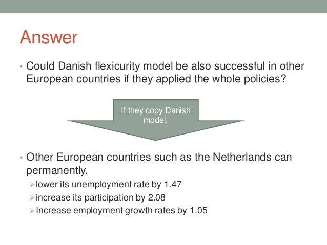 Answer • Could Danish flexicurity model be also successful in other European countries if they applied the whole policies?...