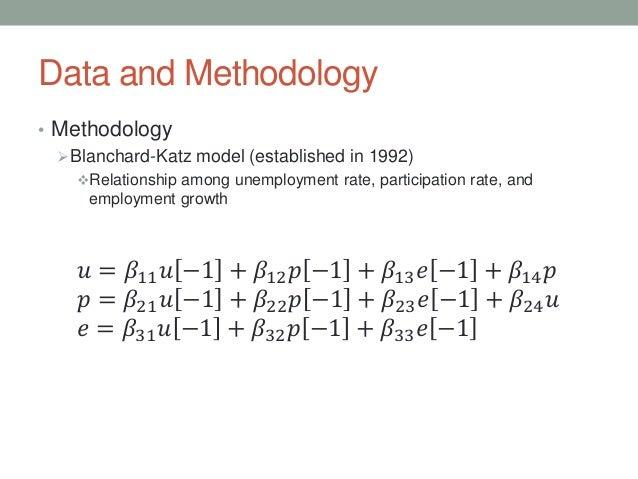Data and Methodology • Methodology Blanchard-Katz model (established in 1992) Relationship among unemployment rate, part...