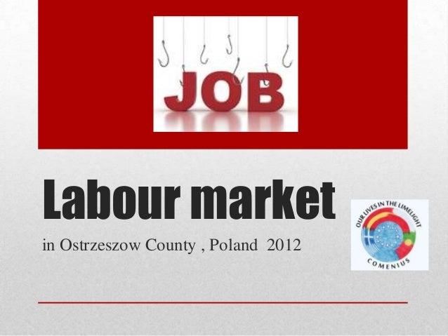 Labour market in Ostrzeszow County , Poland 2012