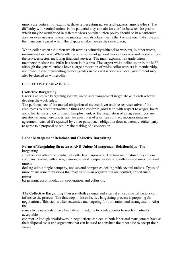 Collective Bargaining Agreement Template Enterprise Bargaining