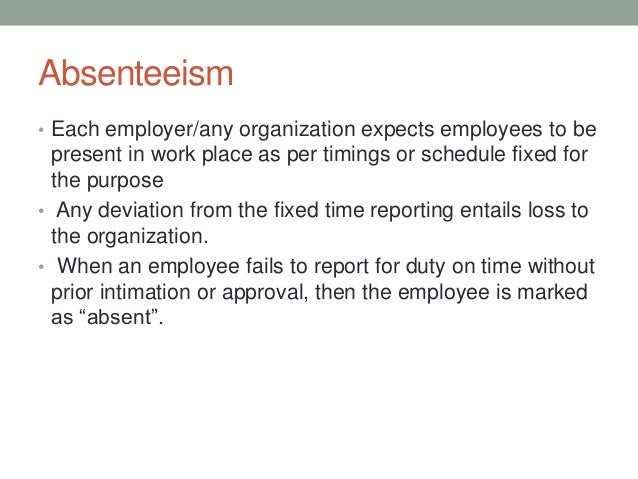 relationship between job satisfaction and absenteeism and turnover