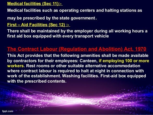 Labour welfare schemes