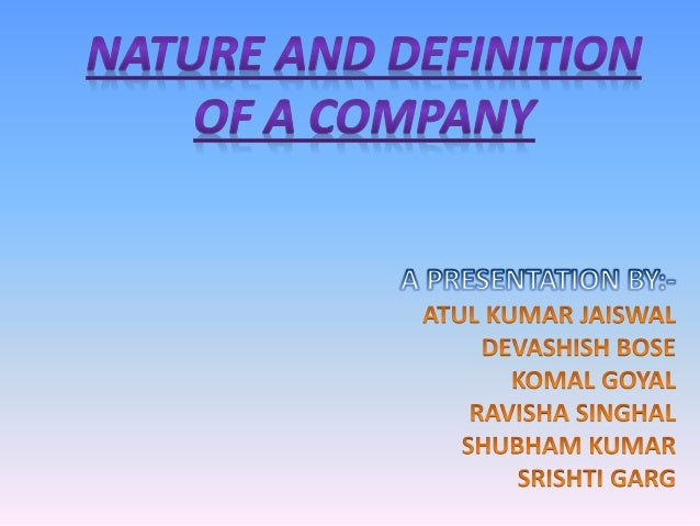 """DEFINITION OF A COMPANY  As per Sec. 2(20) of the Companies Act, 2013, 'company' means a company incorporated """"under this..."""
