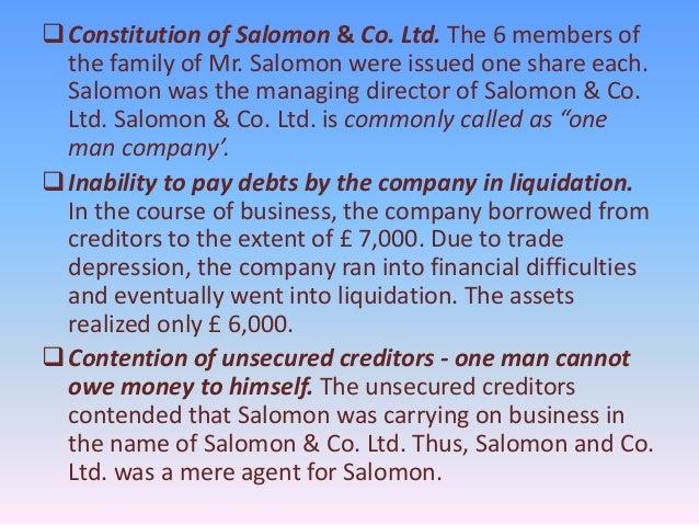 salomon v salomon one man company