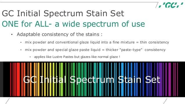 Extension Initial Portfolio Gc Initial Spectrum Stain Set Lustre Pa