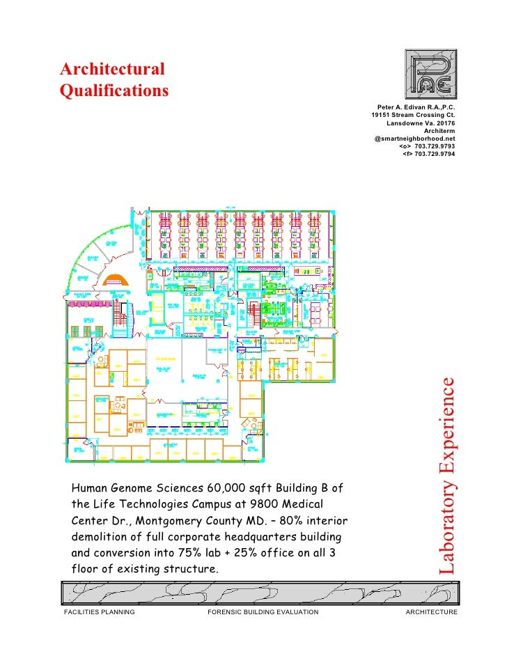 Architectural Qualifications                                                           Peter A. Edivan R.A.,P.C.          ...