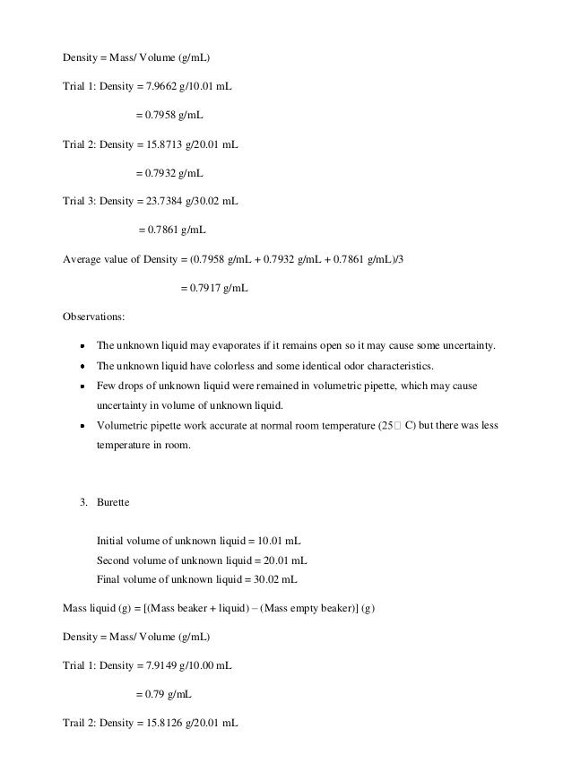 density lab conclusions