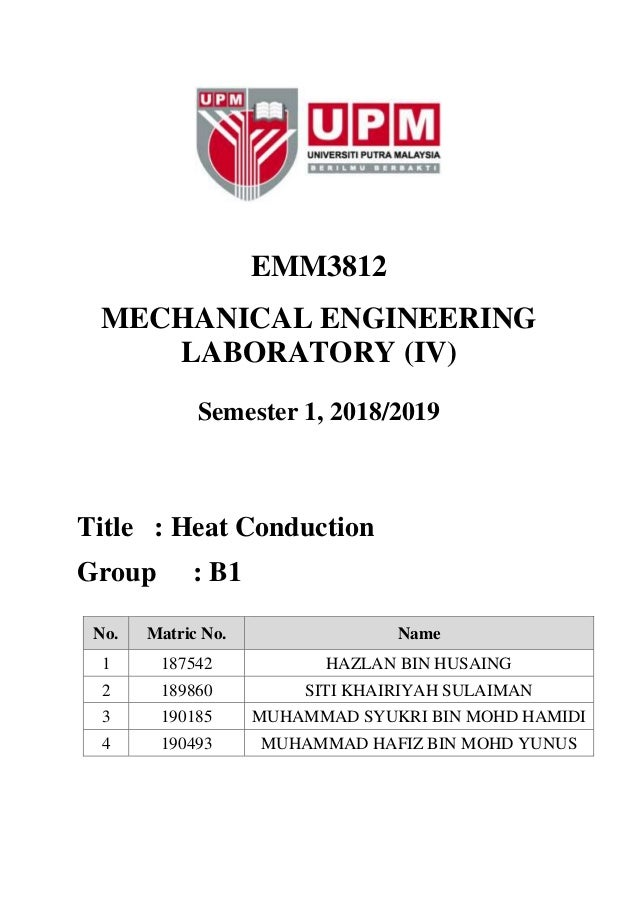heat conduction apparatus lab report