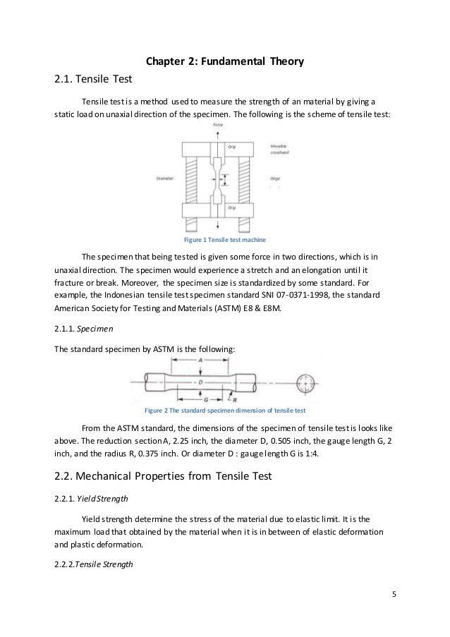 tensile test lab report uthm