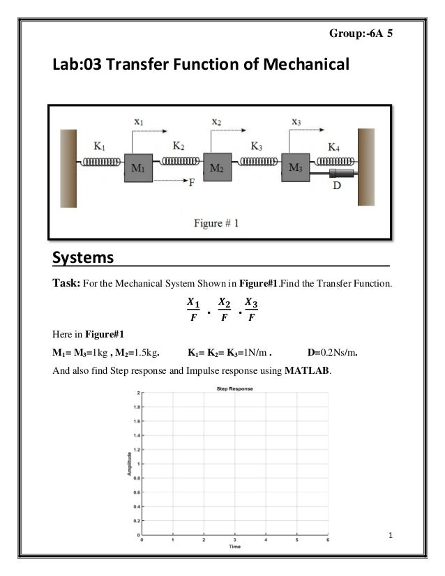 Mathematical Modelling of Electro-Mechanical System in Matlab