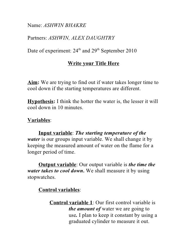 how do you write a conclusion for a chemistry lab report Writing a lab report there are 3 distinct parts of a good lab report: experimental planning and design, data collection and analysis, and conclusions and evaluations.