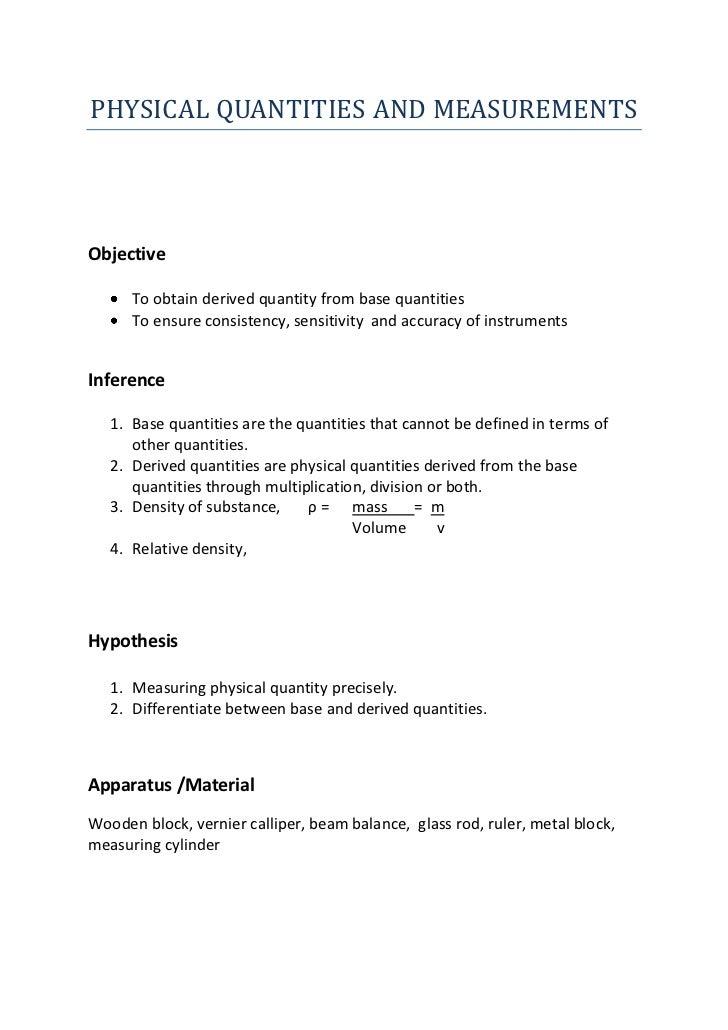 apparatus lab report