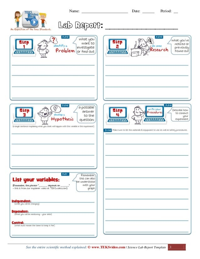 Awesome Science Lab Investigation Report Template