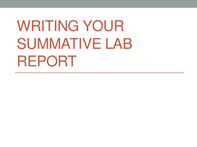 We do your lab reports