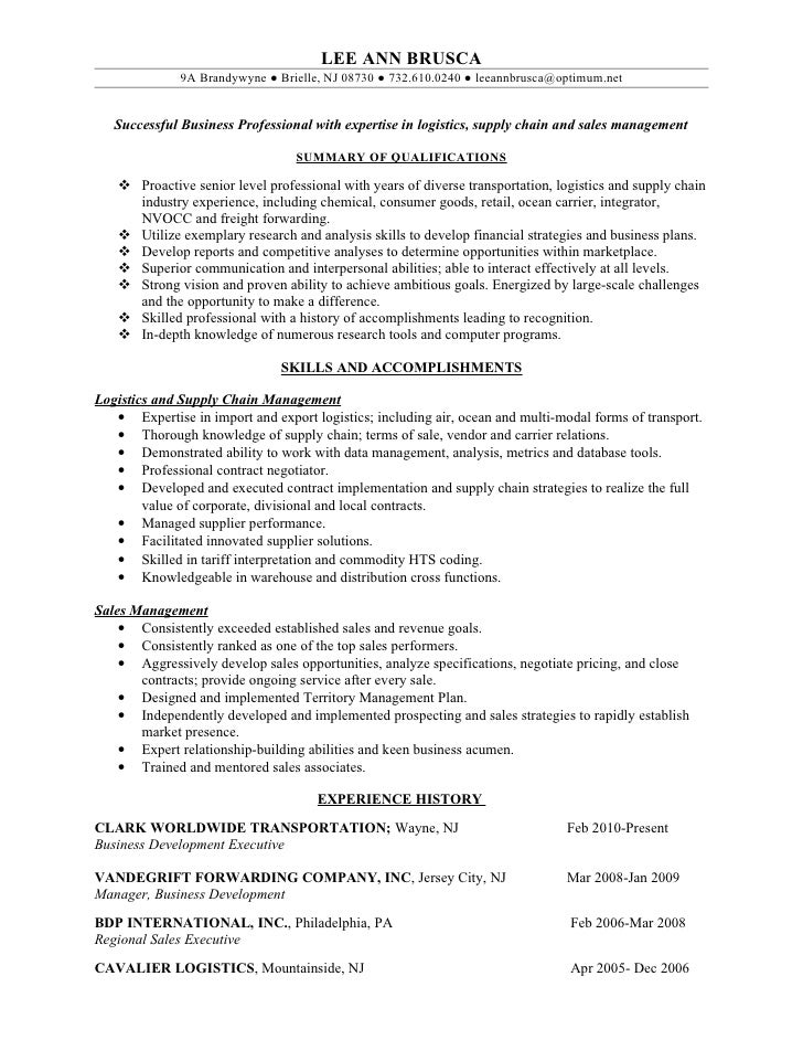 freight forwarder resume sample - Monza berglauf-verband com