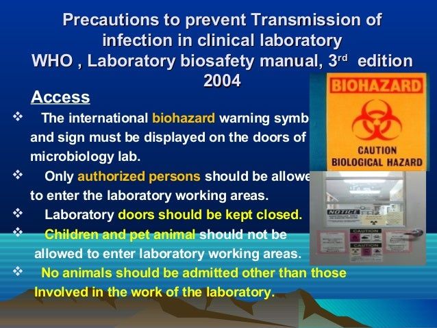 Biohazard Warning Sign For Laboratory Doors Biosafety