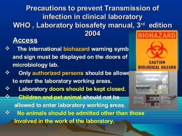 Biohazard Warning Sign For Laboratory Doors Biosafety