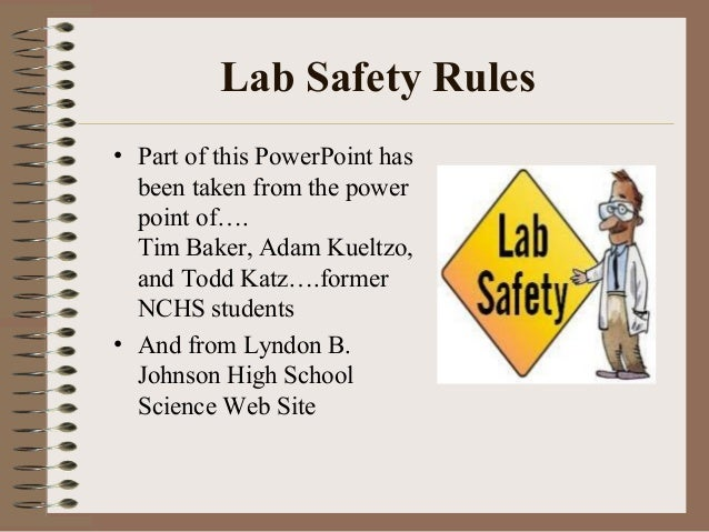 safety good ppt 1 safety and rules of the lab