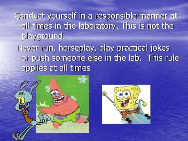Lab Safety Rules Ppt