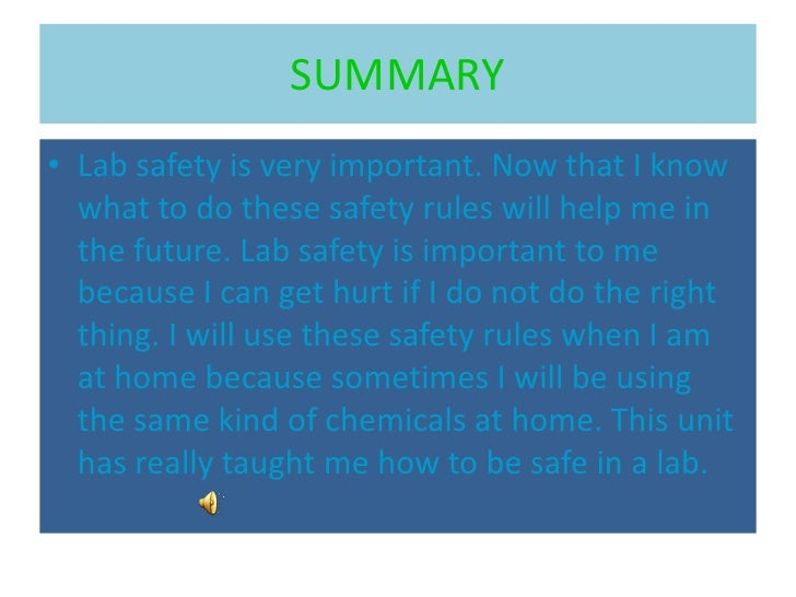 safety measures in biochemistry lab