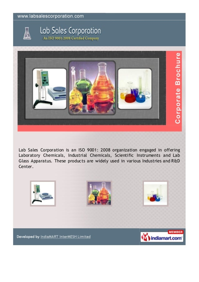 Lab Sales Corporation is an ISO 9001: 2008 organization engaged in offeringLaboratory Chemicals, Industrial Chemicals, Sci...