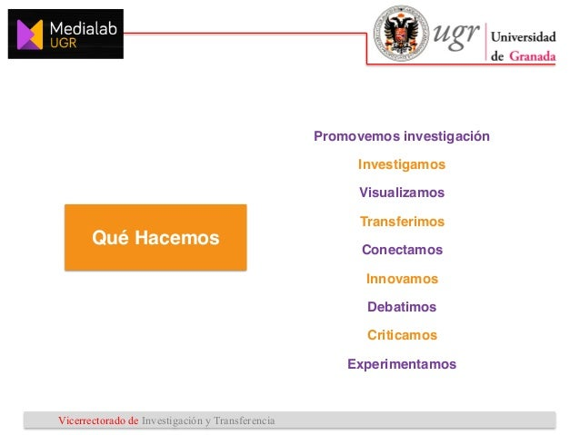 Vicerrectorado de Investigación y Transferencia