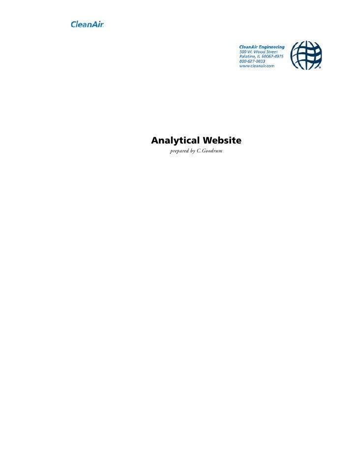 Analytical Website   prepared by C.Goodrum