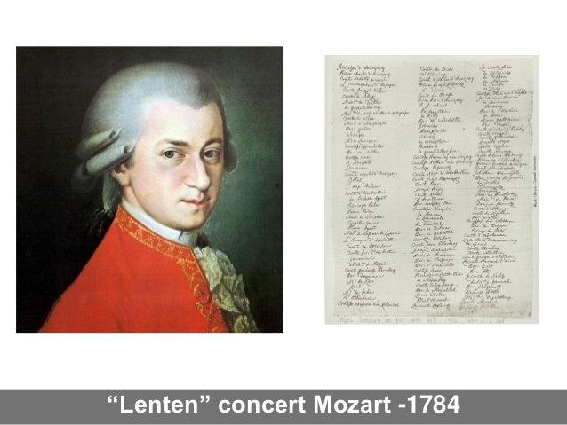 """""""Lenten"""" concert Mozart -1784"""
