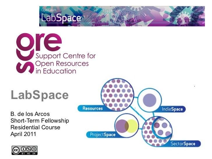 LabSpace B. de los Arcos  Short-Term Fellowship Residential Course  April 2011