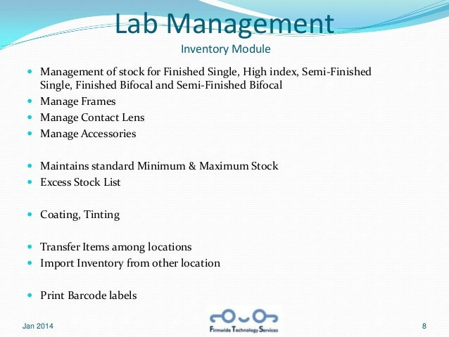 Labsquad Presentation - Complete Optical Industry Software