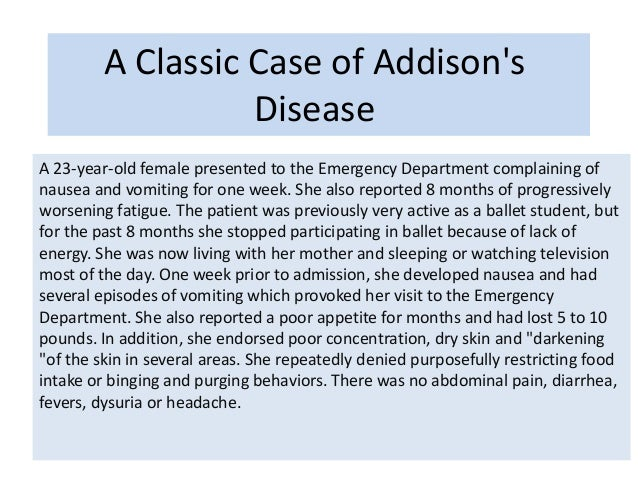 lab test and treatment od addison's disease, Human Body