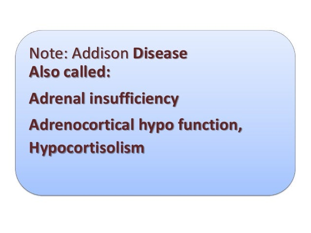addisons disease hypocortisolism essay Is skin pigmentation associated with hypocortisolism / addison's disease yes: hypercortisolism - what will cause the following:  haven't found the essay you.