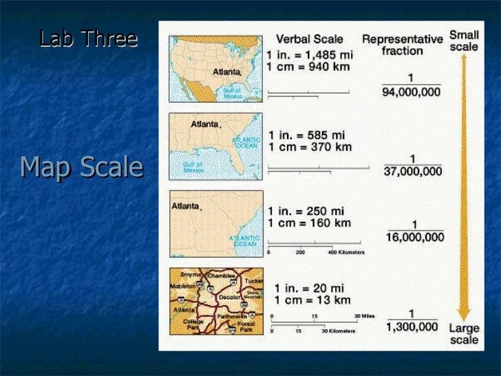 Map Scale Lab Three