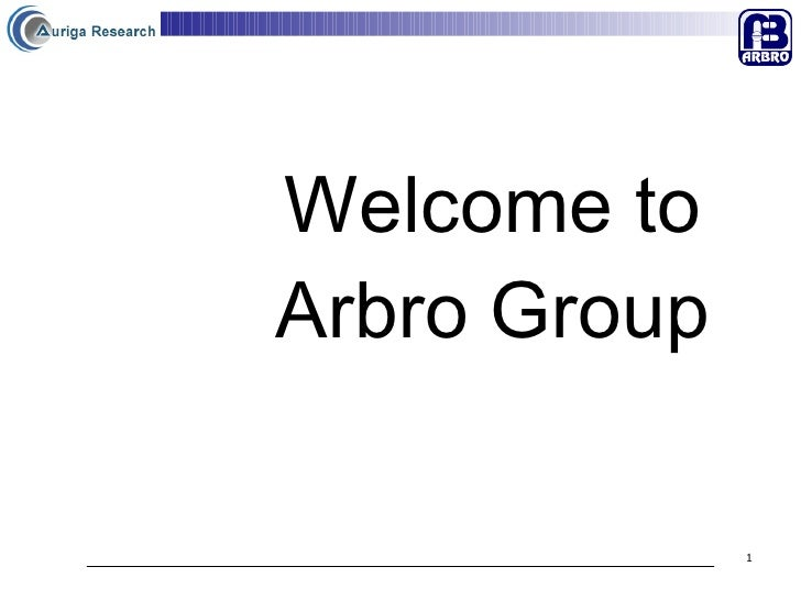 Welcome to  Arbro Group