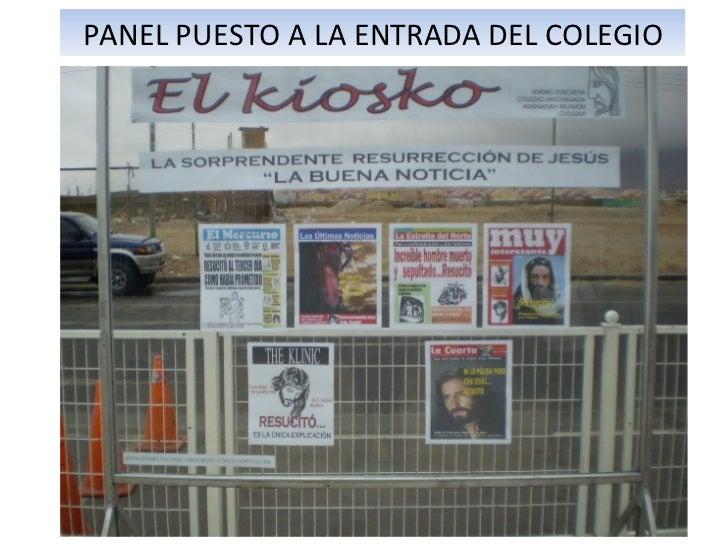 PANEL PUESTO A LA ENTRADA DEL COLEGIO
