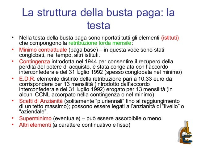 La Busta Paga Presentazione Dott Elia