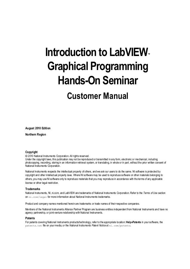 Introduction to Labview
