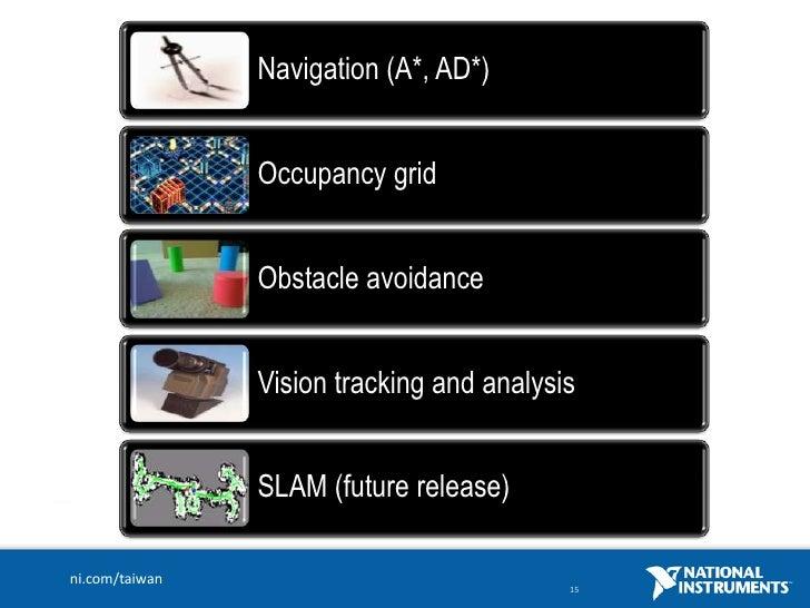 建構自主性機器人的利器LabVIEW for Robotics 功能介紹