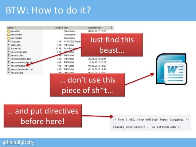 BTW: How to do it?                       Just find this                          beast…              … don't use this     ...