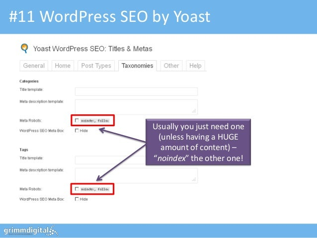 #11 WordPress SEO by Yoast                  Usually you just need one                   (unless having a HUGE             ...